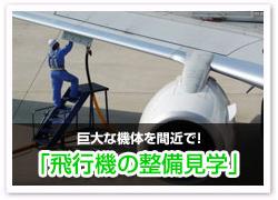 飛行機の整備見学