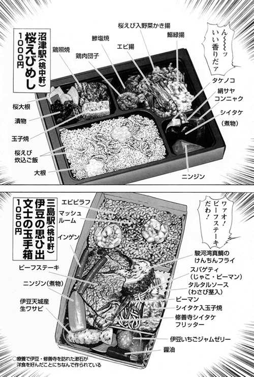 三島駅「伊豆の思ひ出 文士の玉手箱」