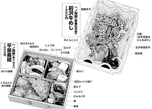前沢牛めし・平泉義経