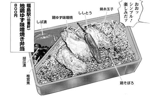 地鶏ゆず味噌焼き弁当(福島駅)