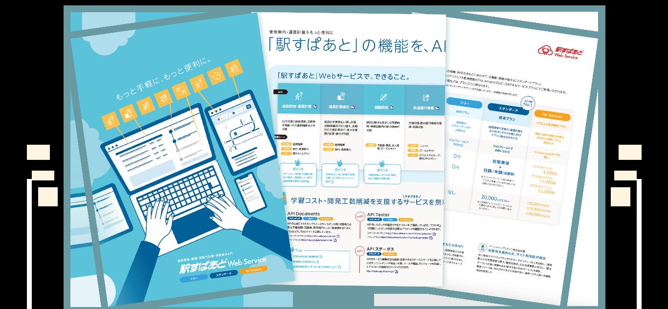 「駅すぱあとWebサービス」製品資料のイメージ図